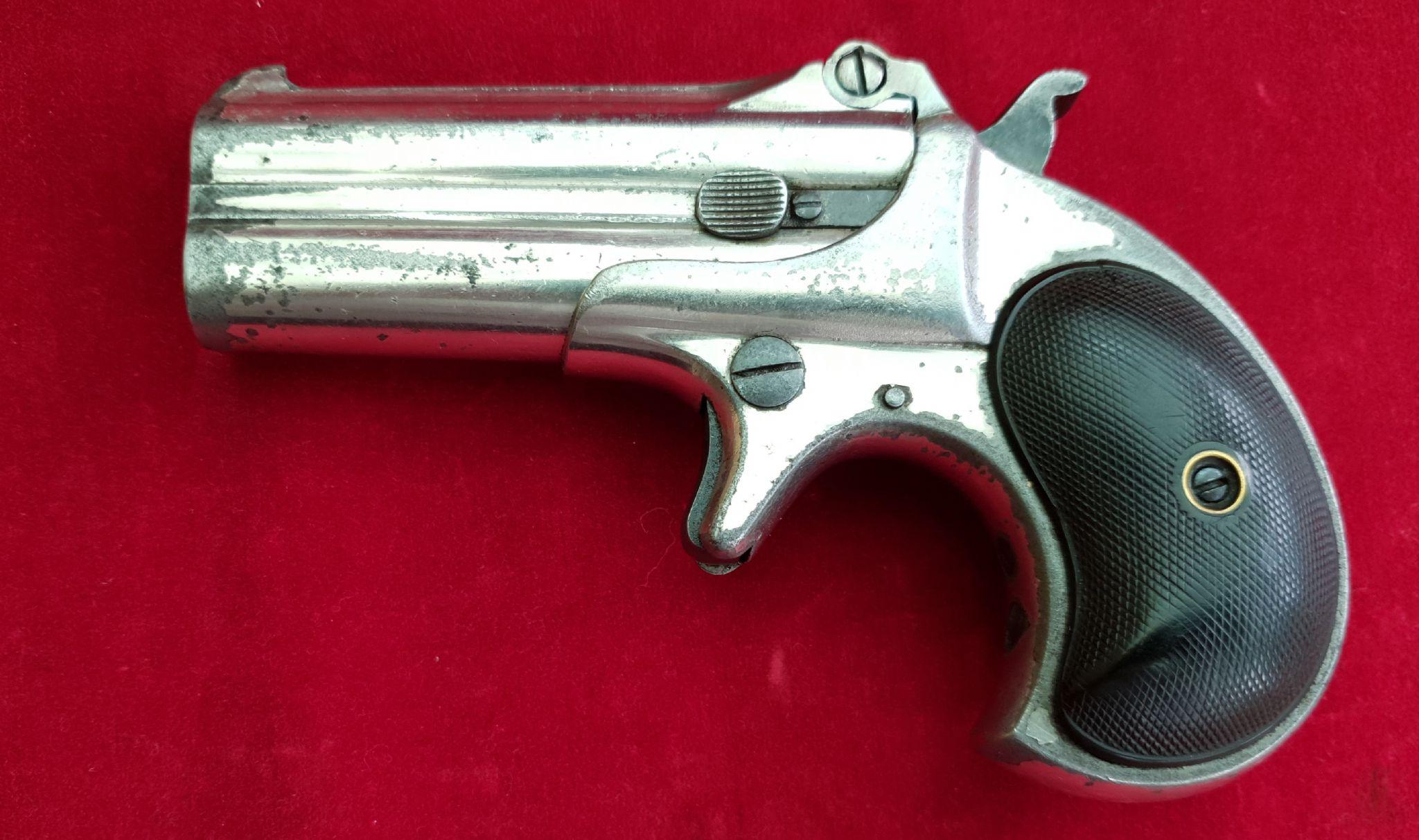 A scarce Remington  41 rim-fire double barrel over and under Gambler
